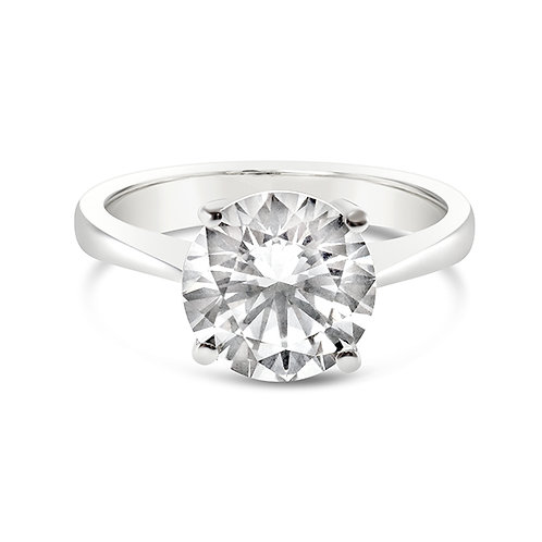 Bitter Sweet Sterling Silver Cubic Zirconia Solitaire Ring 118063