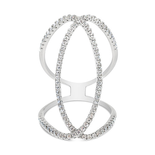 Bitter Sweet Sterling Silver Cubic Zirconia Ring 142390