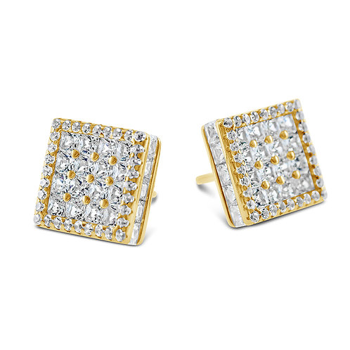 Bitter Sweet Gold Plated Sterling Silver Cubic Zirconia Earrings 142509