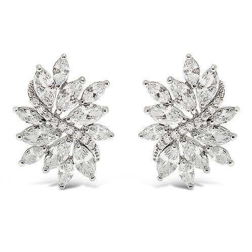 Bitter Sweet Silver Cubic Zirconia Stud Earrings 142891