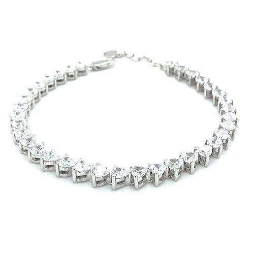 Sterling Silver Cubic Zirconia Bracelet 108190