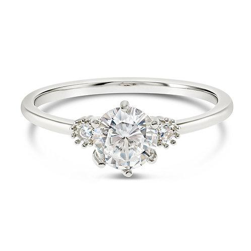 Bitter Sweet Fashion Silver Cubic Zirconia Ring 141877
