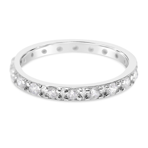 Bitter Sweet Sterling Silver Cubic Zirconia Ring 141503
