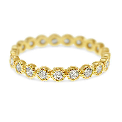 Bitter Sweet Gold Plated Sterling Silver Cubic Zirconia Ring 141579