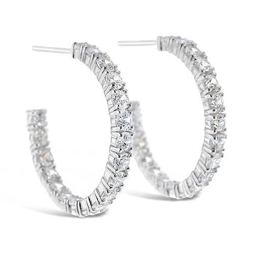 Bitter Sweet Sterling Silver Cubic Zirconia Earrings 141674