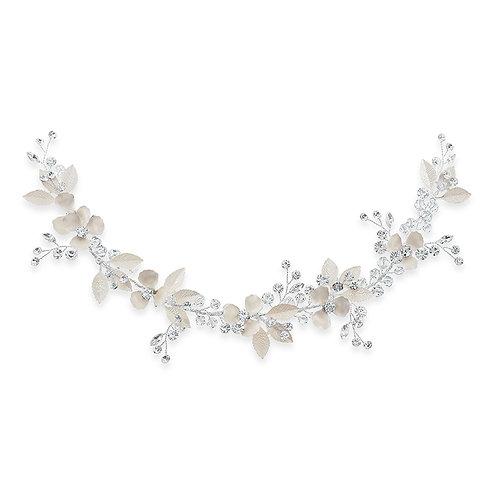 Bridal Silver leaf Hair Vine 142064