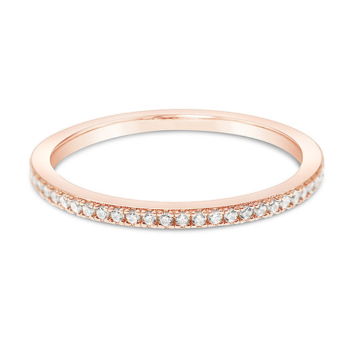 Rosegold Plated Sterling Silver Cubic Zirconia Ring 143171