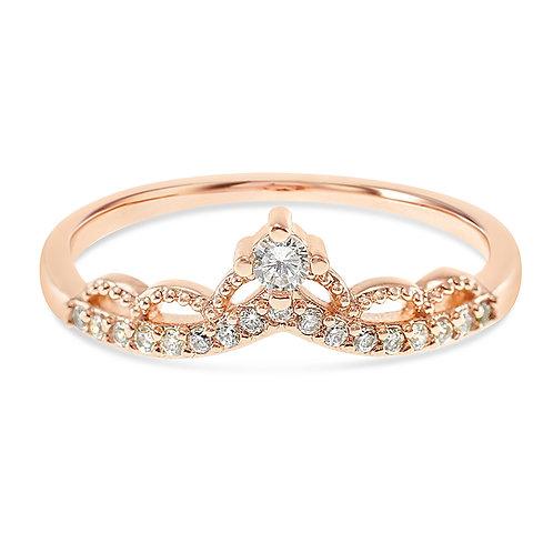 Bitter Sweet Fashion Rosegold Cubic Zirconia Ring 141890