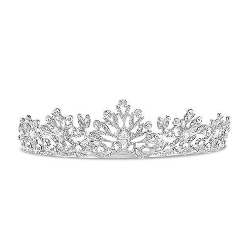 Bridal Silver Crystal Tiara 122962