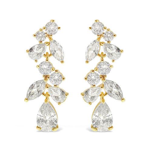 Bitter Sweet Gold Cubic Zirconia Drop Earrings 142881
