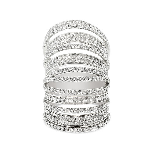 Bitter Sweet Sterling Silver Cubic Zirconia Ring 134168