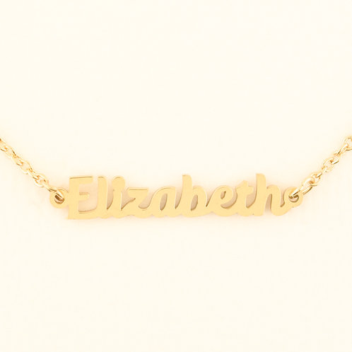 Name Plate Necklace E