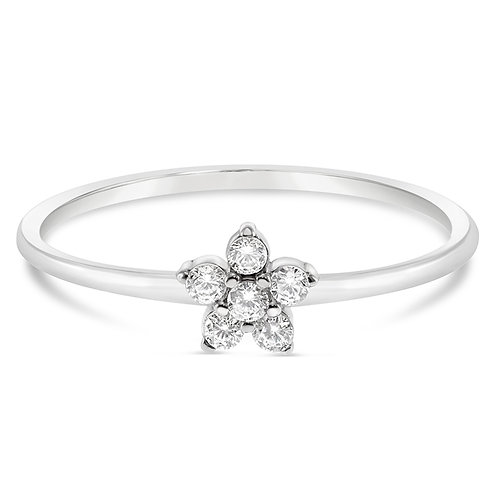 Bitter Sweet Sterling Silver Cubic Zirconia Ring 141524