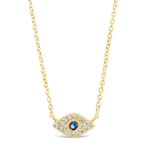 Yellow Gold Plated Sterling Silver Cubic Zirconia Neckla