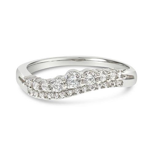 Bitter Sweet Fashion Silver Cubic Zirconia Ring 141864