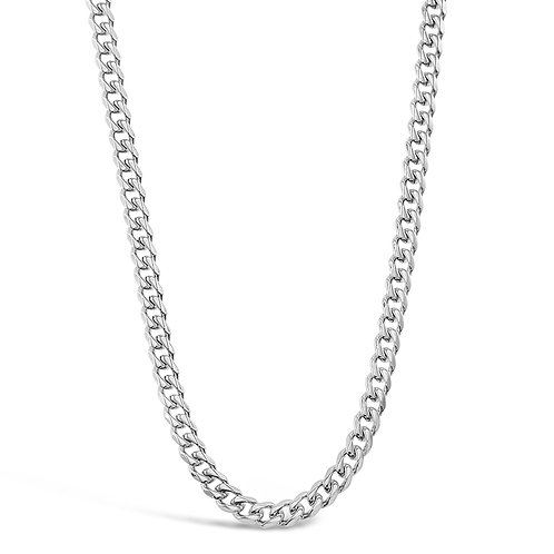 Bitter Sweet Jewellery Stainless Steel Curb Silver Necklace 142335