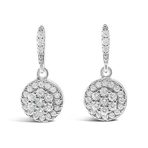 Bitter Sweet Sterling Silver Cubic Zirconia Earrings 132023