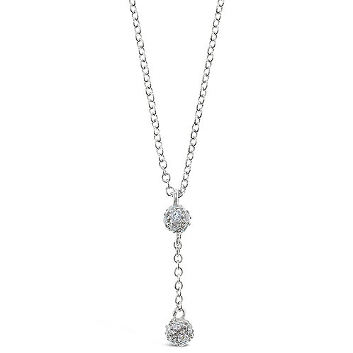 Sterling Silver Cubic Zirconia Necklace 141811