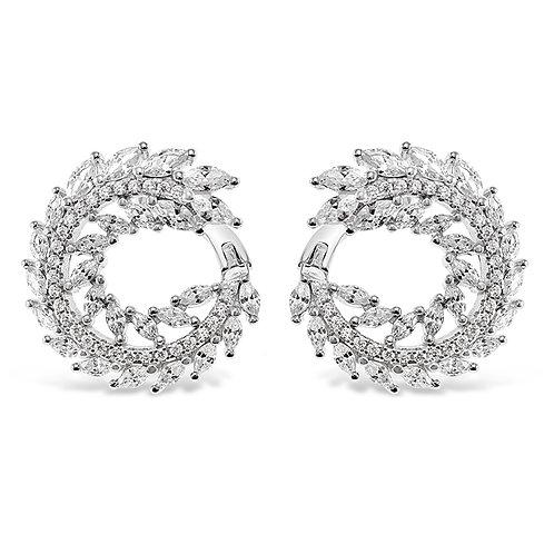 Bitter Sweet Sterling Silver Cubic Zirconia Earrings 141188
