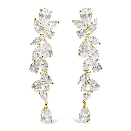 Bitter Sweet Gold Cubic Zirconia Drop Earrings 142877