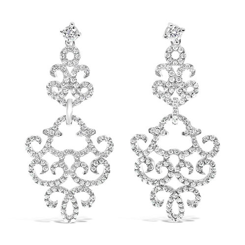 Sterling Silver Cubic Zirconia Earrings 128062