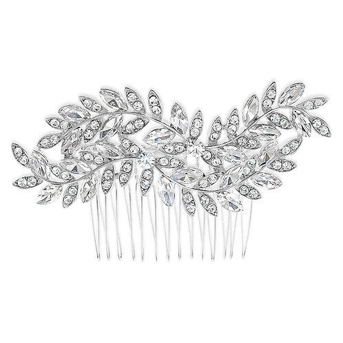 Bridal Silver leaf Hair Comb 142050