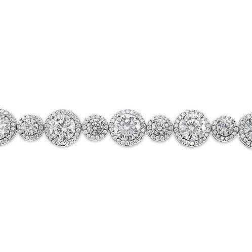 Sterling Silver Cubic Zirconia Bracelet 125092