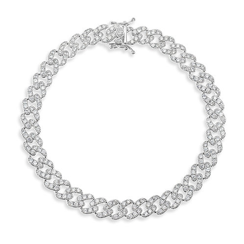 """Bitter Sweet Cubic Zirconia Cuban Link 9"""" Inches Anklet 143076"""