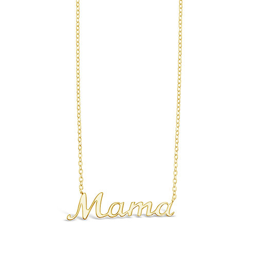 Bitter Sweet Gold Plated Sterling Silver Mama Necklace 142491