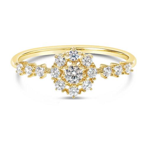 Bitter Sweet Fashion Gold Cubic Zirconia Ring 141968