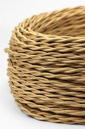 VONSCHLOO Textilkabel Gold Verdrillt