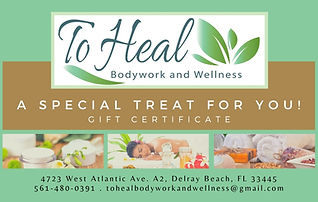 Gift Certificate - A special Trerat for