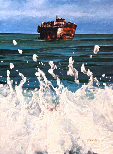 Death Ship Nicodemus Acrylic on canvas,