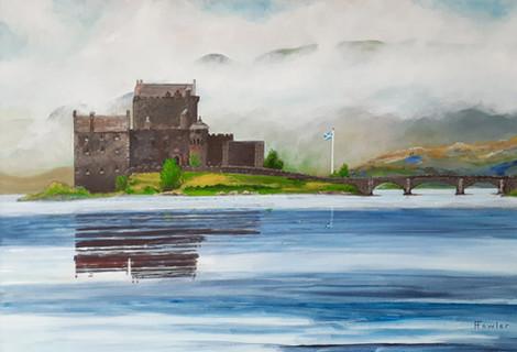 Eilean Donan Castle, acrylic on canvas,