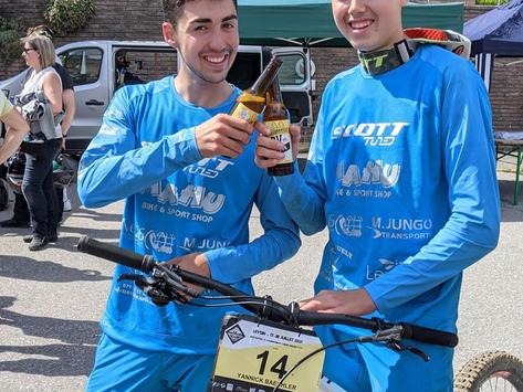 Yanick und Nicolas Bächler MTB DH SM Meister 2021