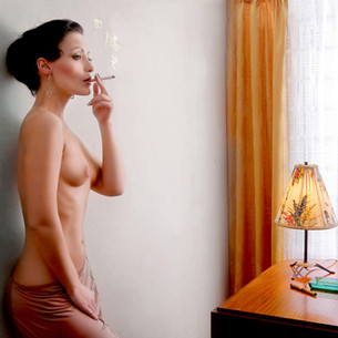 Elaine smoking