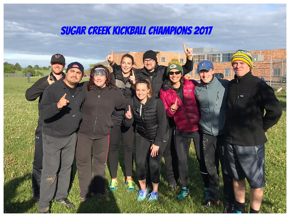 Sugar Creek Kickball Champions