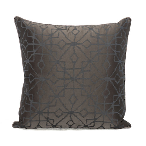 Holly Hunt Dreamcatcher Pillow With Velvet Back & Pebble French Grosgrain Welt