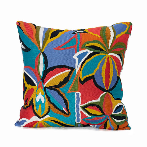 Pierre Frey Hand Embroidered Knife Edge Pillow