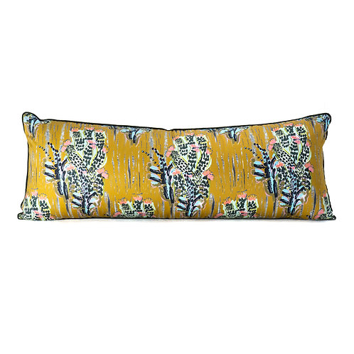 Camengo Pitaya Pillow With French Grosgrain Hunter Green Contrast Welt