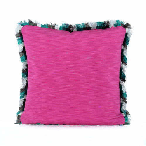 Manuel Canovas Maroquin II Pivoine Pillow With Houles Fringe