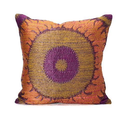 Donghia Reverse Weave Suzani Pillow