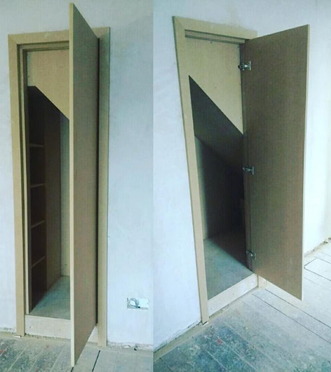 Understairs cupboard under construction. Kidlington,Oxon.