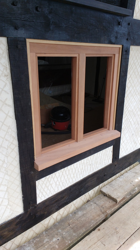 New casement window with leaded lights. listed period house, Moreton, nr.Thame, Oxon.