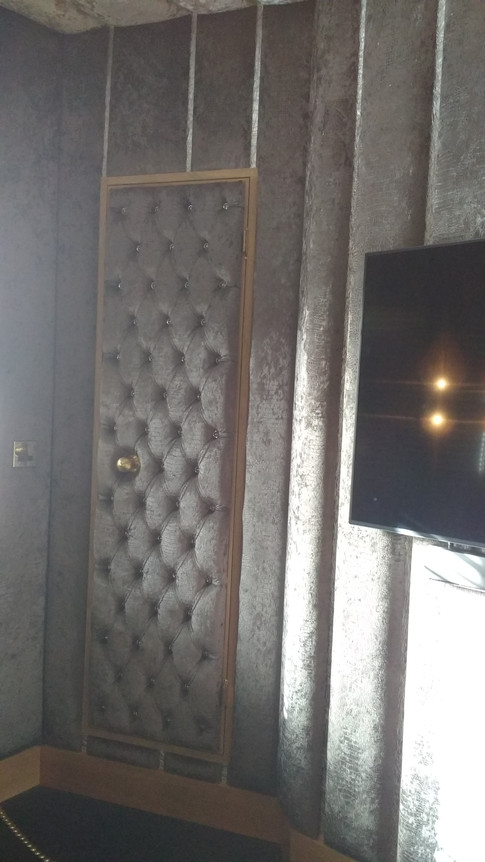 Fitted wardrobe, boutique hotel fit out. Crazy Bear,Beaconsfield,  Bucks.