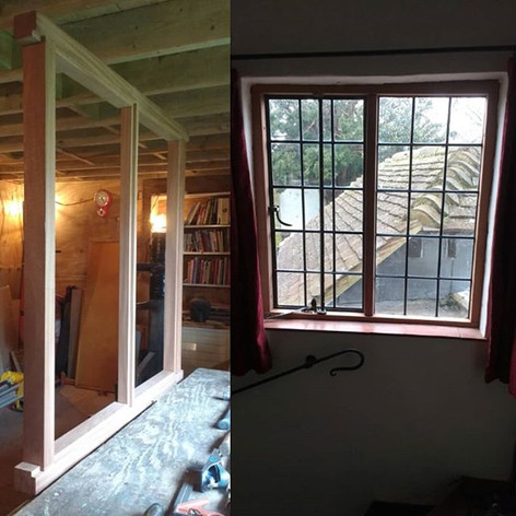Replacement casement window for Listed farmhouse. Haddenham, Bucks.