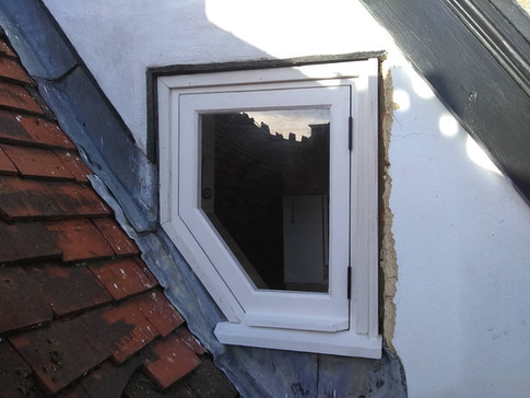 Bespoke casement window, fitted.  16th century building in Thame.