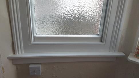 complete cill renewal on sash window. Iffley, Oxford.