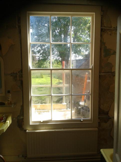 New sash window, listed period house. Thame,Oxon.