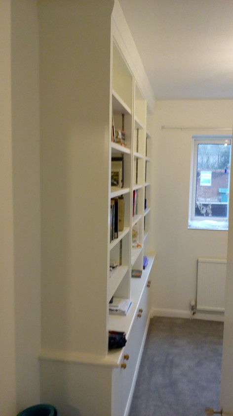 Bookcase with cupboards. Summertown,North Oxford